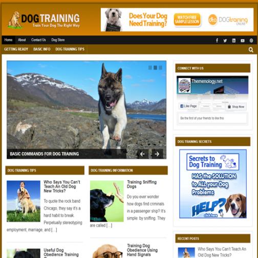 Themenology.net Dog Training Screen Shot